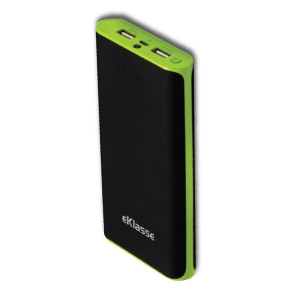 Eklasse Power Bank 20000mAh Black/Green - EKPB20003TW