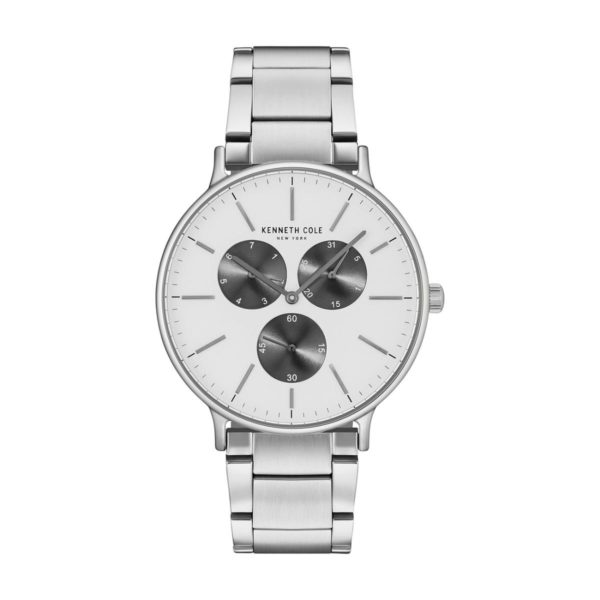 Kenneth Cole New York Watch For Men with Silver Band