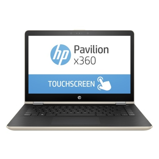 HP Pavillion x360 14-BA004NE Convertible Touch Laptop - Core i5 2.5GHz 8GB 1TB+128GB 2GB Win10 14inch FHD Gold