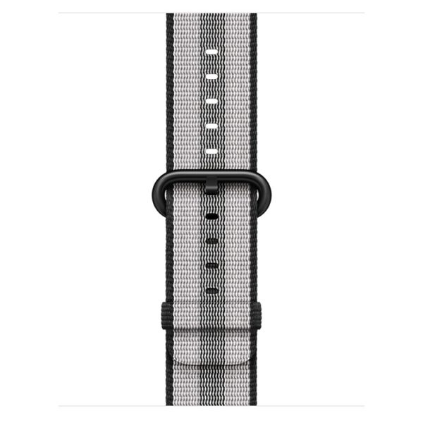 Apple Woven Nylon Band 38mm Black Stripe - MQVG2ZM/A