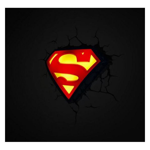 3DLightFX Superman Emblem 3D Decor Wall Light 80004
