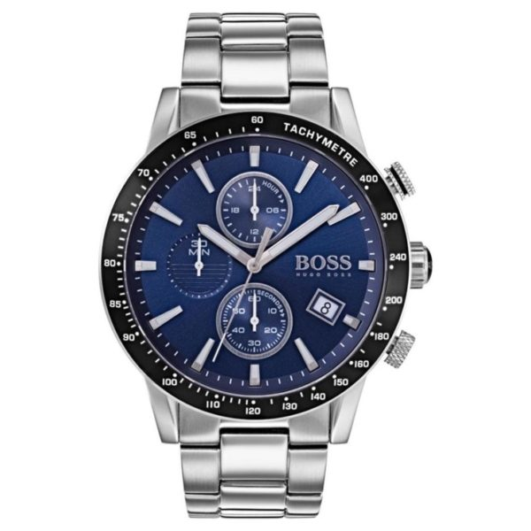 Hugo Boss Rafale Watch For Men with Silver Metal Bracelet