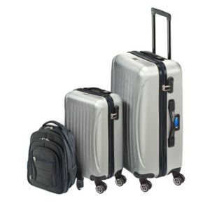 8b6f3b4c1c59 Princess Travellers LAS VEGAS Luggage Trolley Bag With Built in Scale Silver  Set Of 3