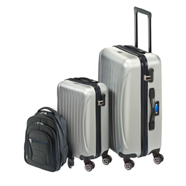 Princess Travellers Las Vegas Luggage Trolley Bag With Built In Scale Silver Set Of 3