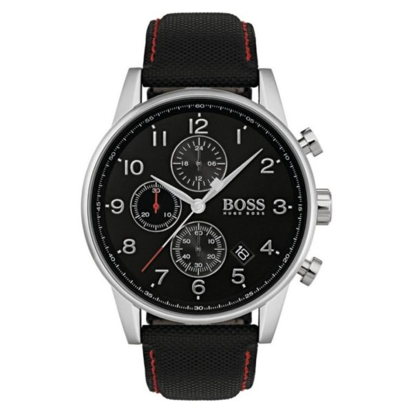 Hugo Boss Navigator Watch For Men with Black Fabric Strap