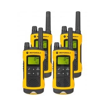Motorola TLKRT80 P14MAB03A1AZ Extreme Walkie Talkie Quad Pack & Charger