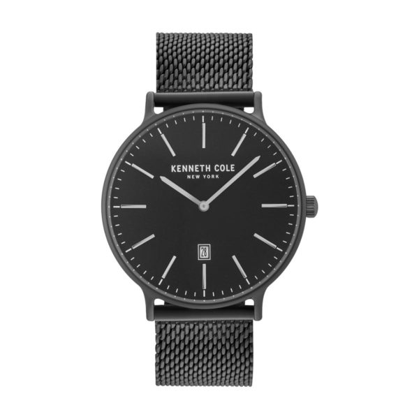 Kenneth Cole Classic Watch For Men with Black Stainless Steel Bracelet