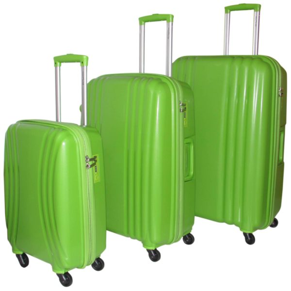 Highflyer THKELVIN3PC Kelvin Trolley Luggage Bag Green 3pc Set