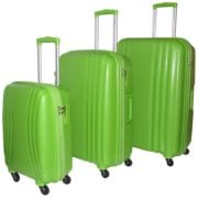 Highflyer THKELVIN3PC Kelvin Trolley Luggage Bag Green 3pc Set