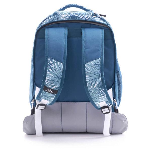 High Sierra 66IAS004 Blaise Trolley Backpack Palms/Lagoon/White