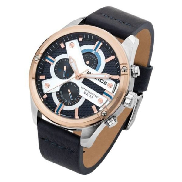Police P 14837JSTR-03 Houston Mens Watch