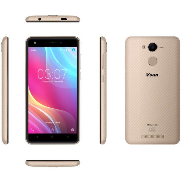 Vsun Mars Touch 4G Dual Sim Smartphone 16GB Champagne