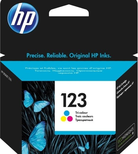 HP F6V16AE 123 Ink Cartridge Tri Color