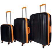 Highflyer THKELVIN3PC Kelvin Trolley Luggage Bag Black/Orange 3pc Set