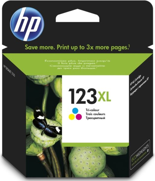 HP F6V18AE 123XL High Yield Tri Color Original Ink Cartridge