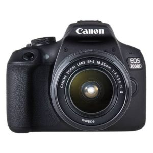 Canon EOS 2000D DSLR Camera Black With 18-55mm IS II Lens Kit