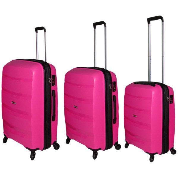 Highflyer Bella Trolley Luggage Bag Pink 3pc Set THBELLA3PC