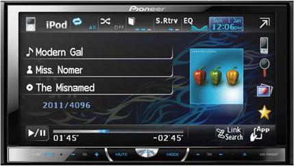 Pioneer AVH-P4450BT In Dash Car Video