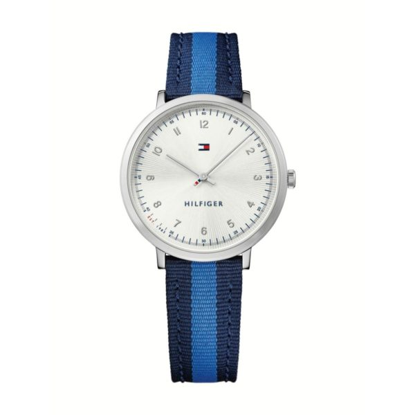 Tommy Hilfiger ULSMB Watch For Women with Blue And Black Cloth Strap
