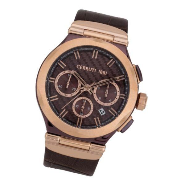 Cerruti 1881 CRWA180SBRR12BR Lariano Chrono Mens Watch