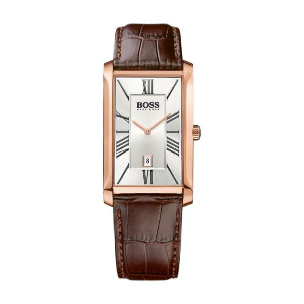 Hugo Boss ADMAL Watch For Men with Brown Leather Strap