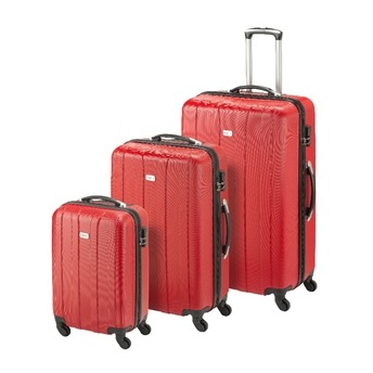 Princess Travellers CUBA Luggage Trolley Bag Bright Red Set Of 3