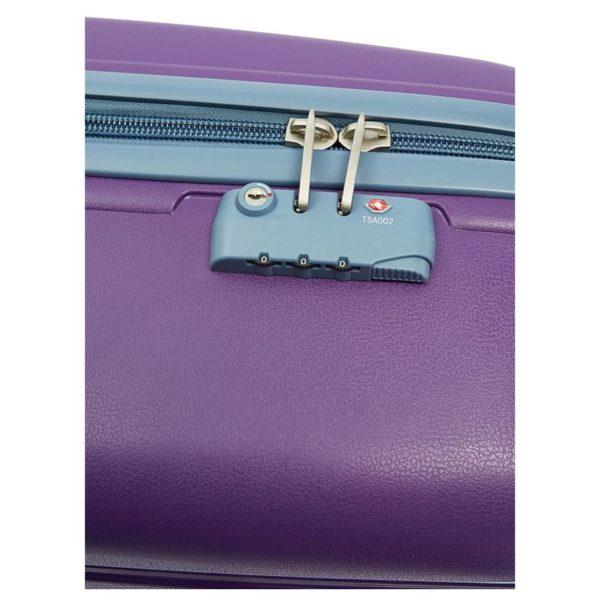 Senator PPB26PPL PP Spinner Trolley Luggage Bag Purple 26inch