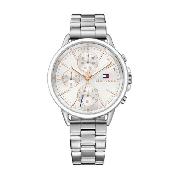 Tommy Hilfiger CARL Watch For Women with Silver Steel Bracelet