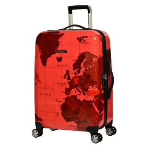 0f6c0c7da28e Eminent Map Spinner Trolley Luggage Bag RED 24inch - KF3224RED