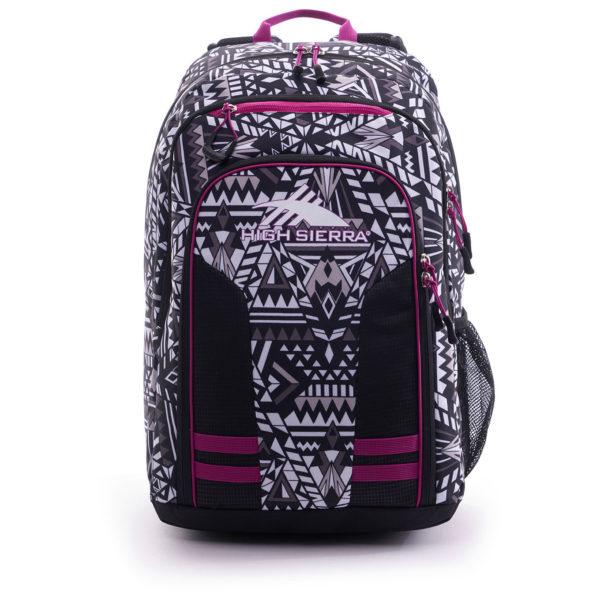 High Sierra H04AY073 Blaise Backpack Geo Weave/Black/Razzmataz