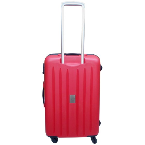 Highflyer WAVES Unbreakable Hard Trolley Luggage Bag 3pc Set TH-WAVES-3PC - Red
