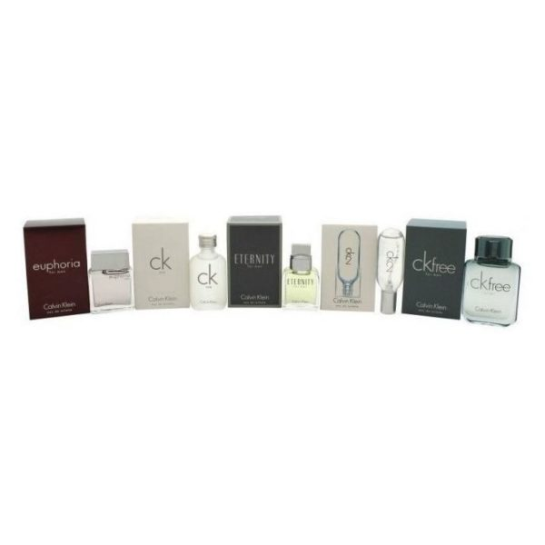 Calvin Klein Deluxe Frangrance 5in1 Mini Gift Set For Men (CK1 10ml EDT + Euphoria 10ml EDT + CK2 10ml EDT + CKFree 10ml EDT + Eternity 10ml EDT)