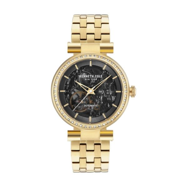 Kenneth Cole Automatic Watch For Women with Gold Hamilton Gold Stainless Steel Bracelet