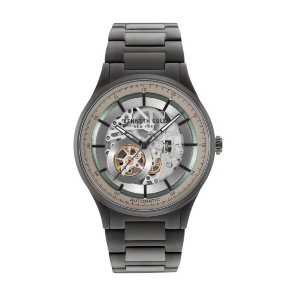 Kenneth Cole Automatic Watch For Men with Gun Stainless Steel Bracelet