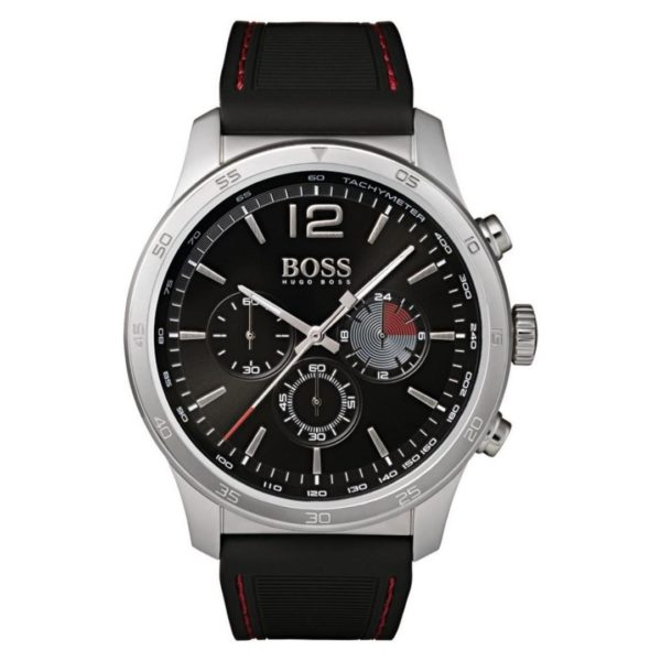 Hugo Boss The Professional Watch For Men with Black Rubber Strap