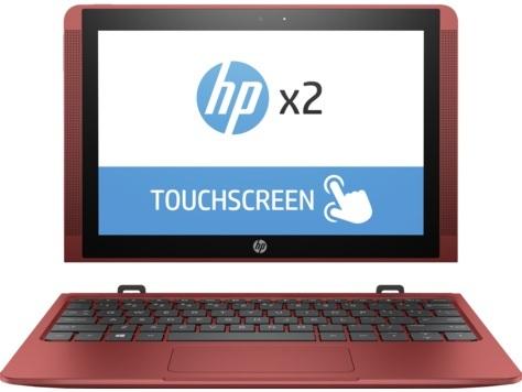 HP x2 10-P000NE Convertible Touch Laptop - Atom 1.44GHz 2GB 32GB Shared Win10 10.1inch WXGA Red