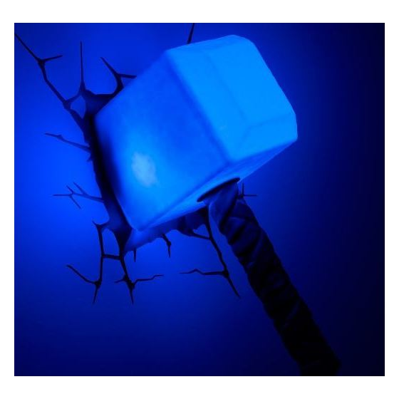 3DLightFX Thor Hammer 3D Decor Wall Light 64017