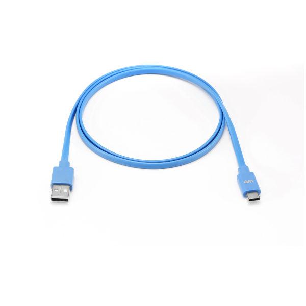 We Flat Cable USB-C/USB USB2.0 1m Blue