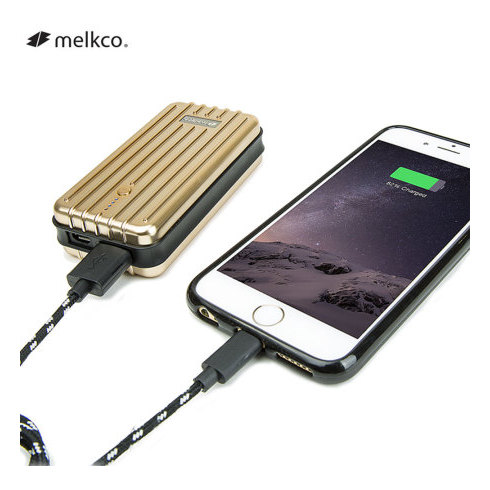 Melkco Gofove T-Slim Aluminium Gold Power Bank 6000mAh - MKGFPBSM60GD