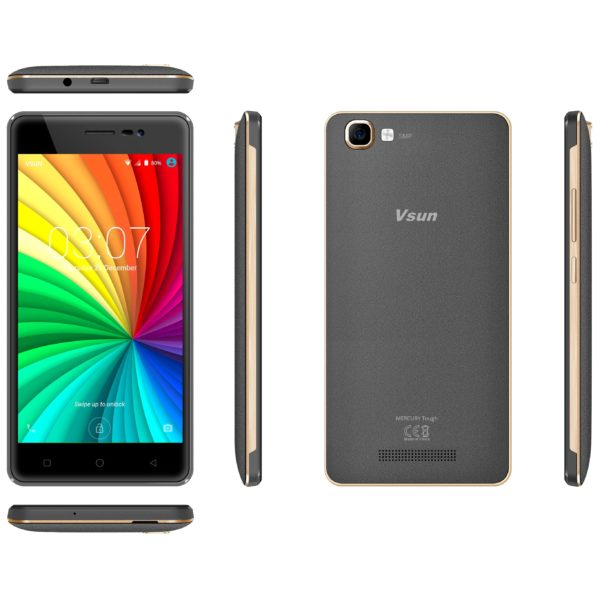 Vsun Mercury Tough 4G Dual Sim Smartphone 8GB Grey