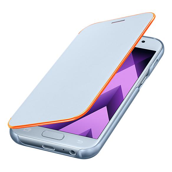 huge discount 0d2d8 706d0 Samsung Neon Flip Cover Blue For A7 2017 EF-FA720PLEGWW