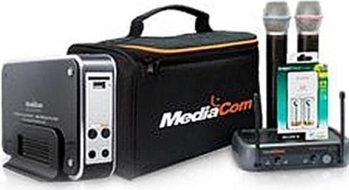 Mediacom (MCISDPORTO+SD Card+Wireless Mic+Bag+Charger)Karaoke System