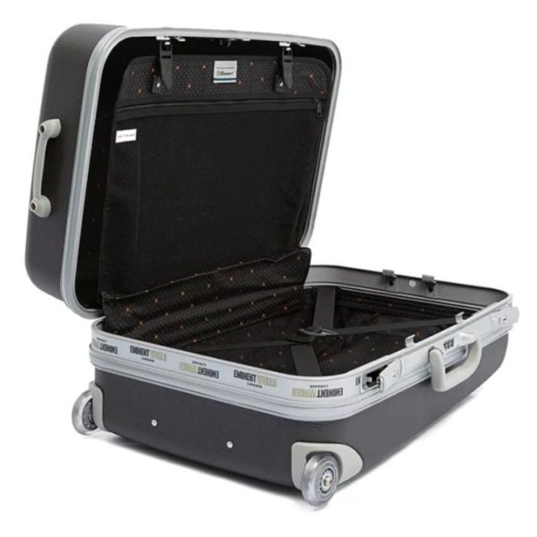 Eminent ABS Trolley Luggage Bag Dark Silver 20inch E8M6-20_SLVDR