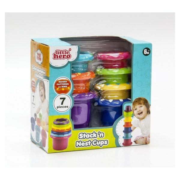 Little Hero 3048 Stack n Nest Cups Toy