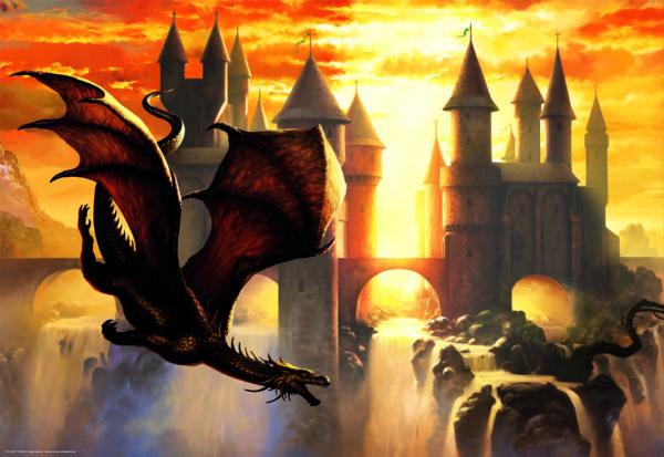 Educa 17312 1000 Sunset Dragon Puzzle