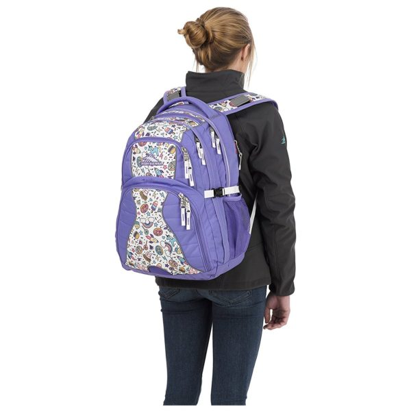 High Sierra H04W4018 Swerve Backpack Lavender/Sweet Cakes/White