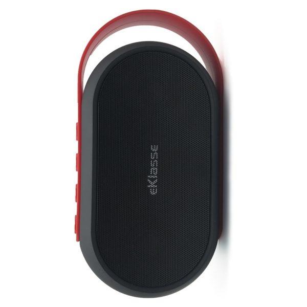 Eklasse Bluetooth Speaker Black With Red Strap