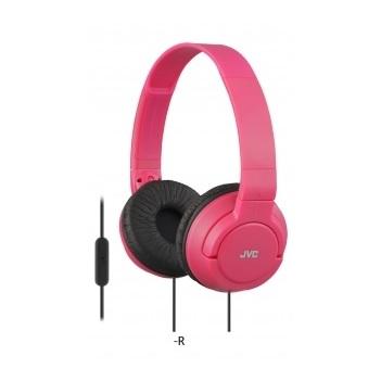 JVC Lightweight Wired Headphone Red HASR185R