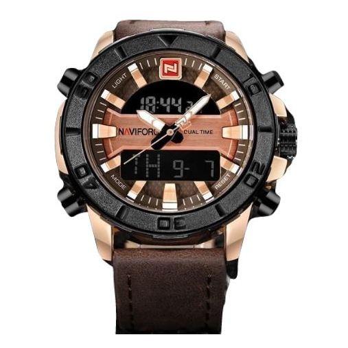 Naviforce Mens Watch Gold Brown NF9116