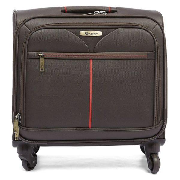 Senator GM1208210AW165BRW Pilot Trolley Luggage Bag Brown 16.5inch